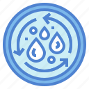 cycle, ecology, environment, recycled, water icon