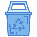 bin, environment, nature, recycle, recycling icon