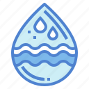 drop, nature, rain, water, weather icon