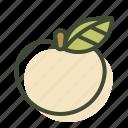 apple, fresh, fruit, organic, vegan icon