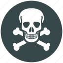 danger, dead, death, label, marker, spot, toxic icon