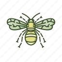 bee, eco, honey, natural, nature, organic icon
