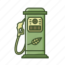 biofuel, eco, fuel, gaspump, leaf, power, pump icon