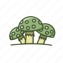 eco, food, mushroom, natural, nature icon
