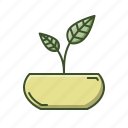 eco, leaves, natural, nature, plant, pot icon