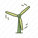 eco, power, wind, windmill, windturbine icon