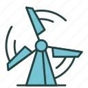 ecology, electricity, energy, mill, power, turbine, wind icon