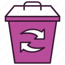 bin, ecology, garbage, recycle, recycling, trash, waste icon
