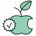 apple, eco, fruit, green, natural, oranic, product icon