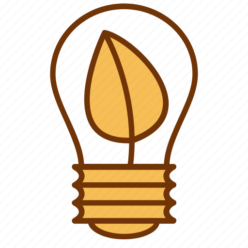 bulb, eco, electricity, energy, light, nature, power icon