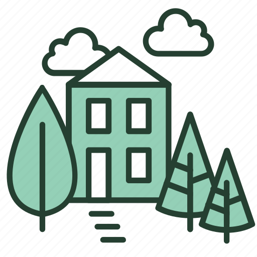 ecology, environment, green, home, living, nature, with icon