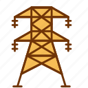 ecology, electrical, electricity, energy, green, power, tower icon