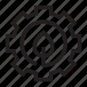 core, eco, energy, gear, setting icon