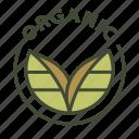 bio, eco, food, label, natural, organic icon