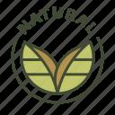 natural origin, eco, food, nature, natural, bio, cosmetic icon
