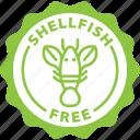 allergen, allergy, food, label, lobster, shellfish, shellfish free icon