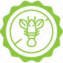 green, allergen, lobster, label, seafood, shellfish icon