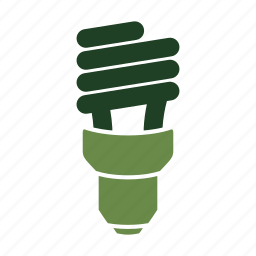 cfl, eco, eco friendly, electric, energy efficient, environmentally friendly, green, light icon