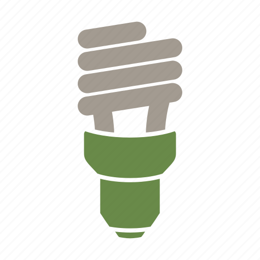 cfl, eco friendly, energy efficient, environmentally friendly, green, light, off icon