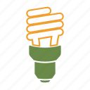 cfl, eco, eco friendly, energy saving, environmentally friendly, green, idea, light, on icon