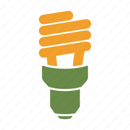 cfl, eco, eco friendly, energy efficient, environmentally friendly, green, lightbulb, on icon
