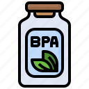 bpa, free, container, eco, friendly, signaling, leaf