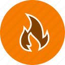 bonfire, fire, flame, light icon