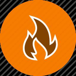 bonfire, fire, light icon