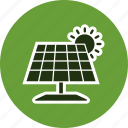 ecology, energy, solar energy, solar panel icon
