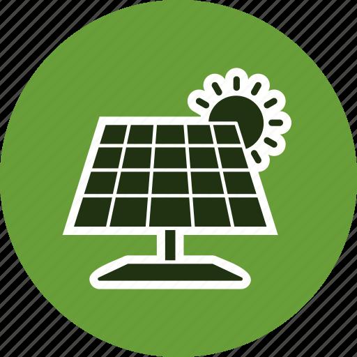 ecology, energy, solar energy, solar panel icon