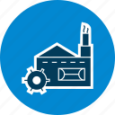 factory, industrial, mill, plant icon