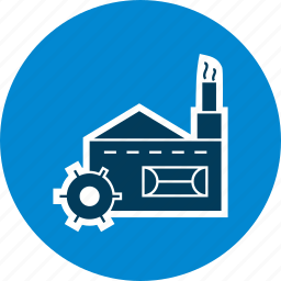 factory, mill, plant icon