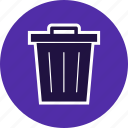 basket, dust bin, recycle bin, trash, waste icon