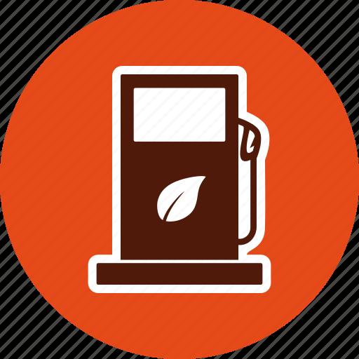 eco, fuel, gas, station icon