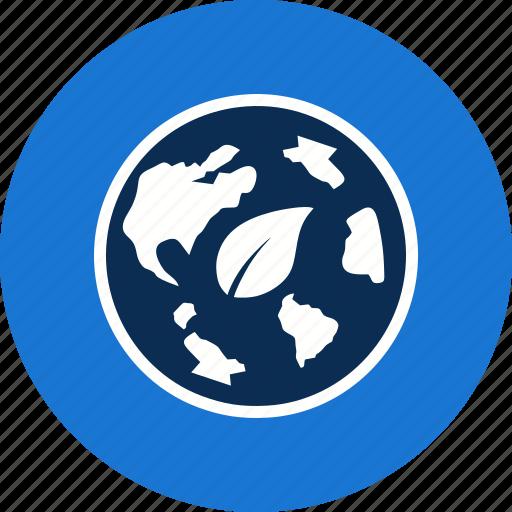 eco world, ecology, globe icon