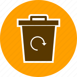 eco, garbage recycle, recycle bin icon