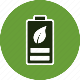 eco battery, energy, renewable icon