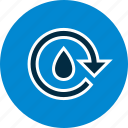 eco, ecology, recycle, save water icon