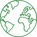 eco, ecology, green energy, world icon