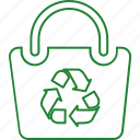 bag, eco, eco bag, ecology, recycle, recycling icon