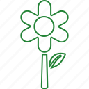eco, ecology, flower, green icon