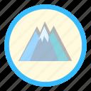 alpinism, mount, peak, travel icon