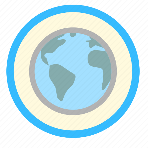 Planet, earth, global, ecology, world icon