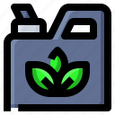 ecology, jerrycan, leaf, nature icon