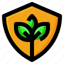 ecology, plant, protection, shield icon