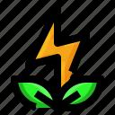 ecology, energy, leaf, power icon
