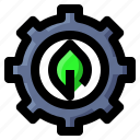 ecology, gear, leaf, settings icon