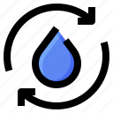 eco, ecology, recycle, water icon