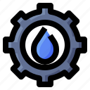 ecology, gear, settings, water icon