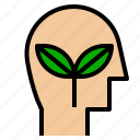 ecology, plant, think icon